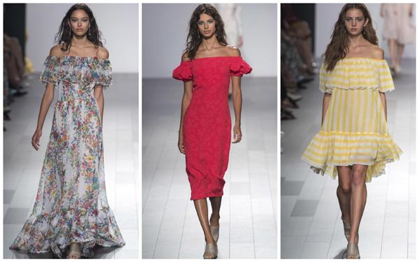 модная коллекция Tadashi Shoji весна-лето 2018