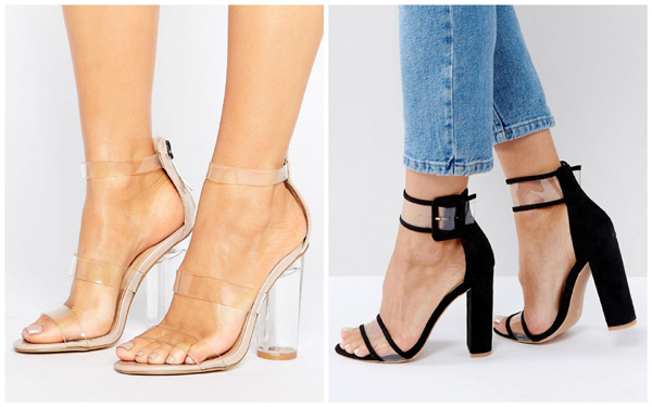 самая модная обувь лето 2018 - босоножки с прозрачными вставками