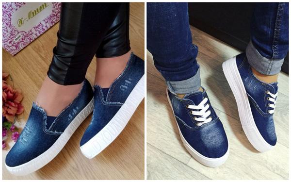 самая модная обувь лето 2018 - джинсовые слипоны