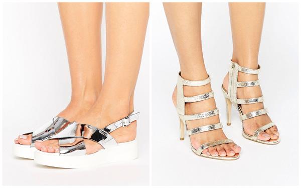 самая модная обувь лето 2018 - женская обувь цвета металлик