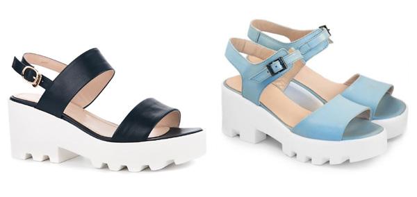 самая модная обувь лето 2018 - летние босоножки на массивной подошве