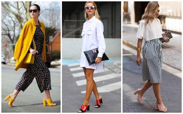 самая модная обувь лето 2018 - мюли на лето