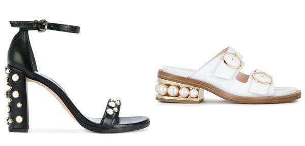 самая модная обувь лето 2018 - обувь с декором под жемчуг