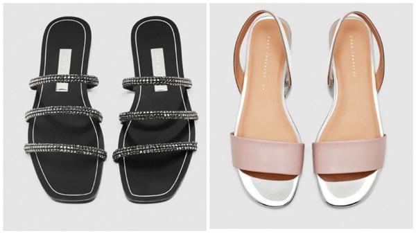 самая модная обувь лето 2018 - сандалии минималистичный дизайн