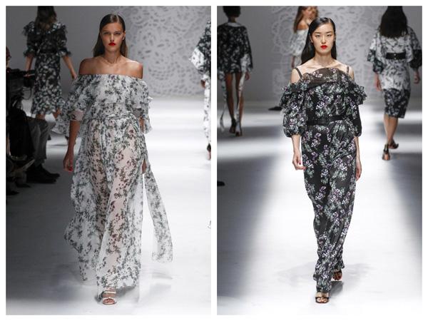 самые модные платья на лето 2018 - макси платья с открытыми плечами