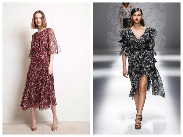 самые модные платья на лето 2018 - платье с мелким принтом
