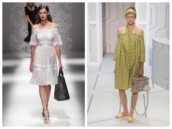 самые модные платья на лето 2018 - платья с открытыми плечами