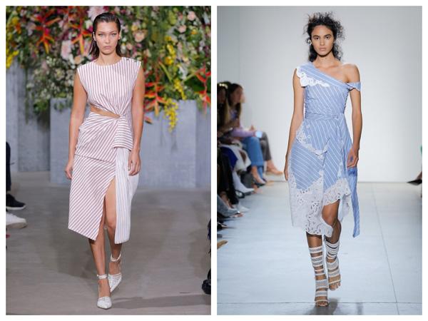 самые модные платья на лето 2018 - принт в полоску