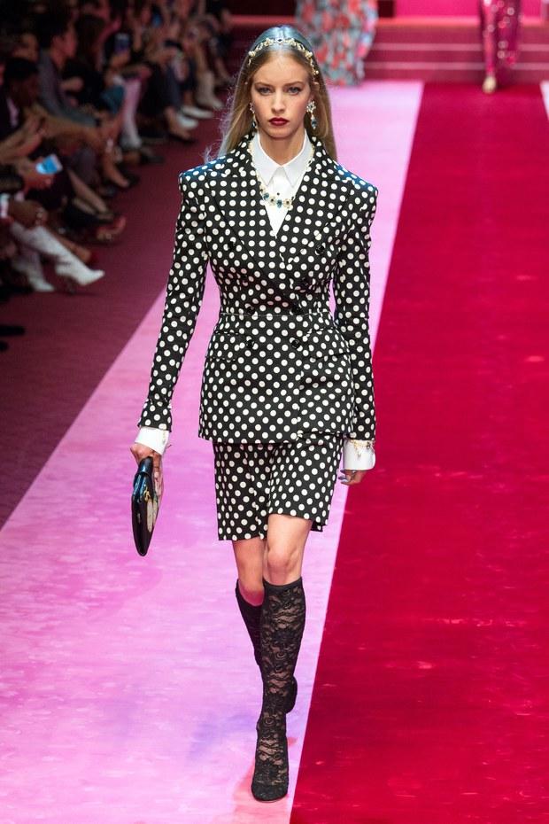 обзор модной коллекции Dolce & Gabbana весна-лето 2018