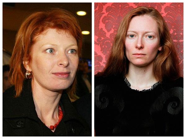 амалия мардвинова и тильда суинтон - знаменитости, похожие друг на друга