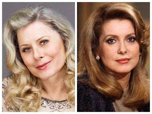 Вера Фишер и Катрин Денев - знаменитости, похожие друг на друга