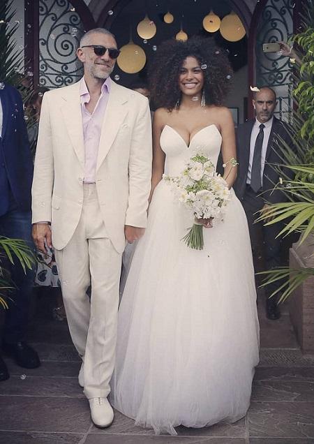 венсан кассель и тина кунаки, свадьба