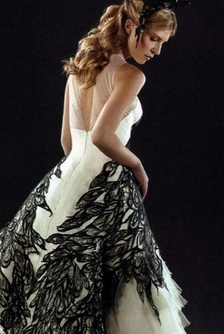 флер делакур,свадебное платье