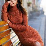 Вязаное платье для зимы — с чем сочетать (фото образов)