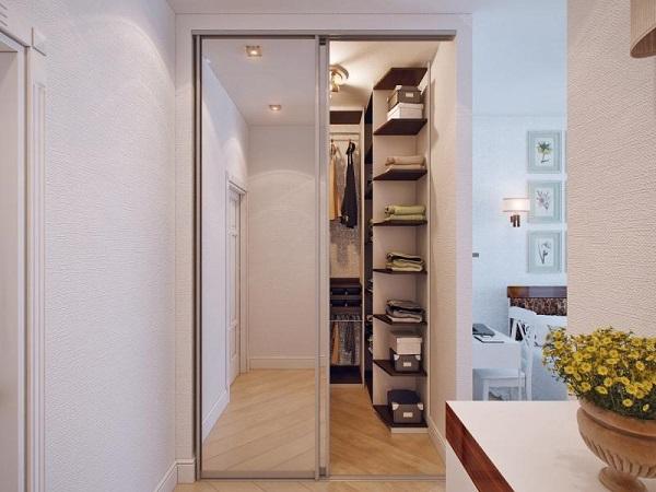 гардеробная комната в квартире, планировка, фото, дизайн интерьера