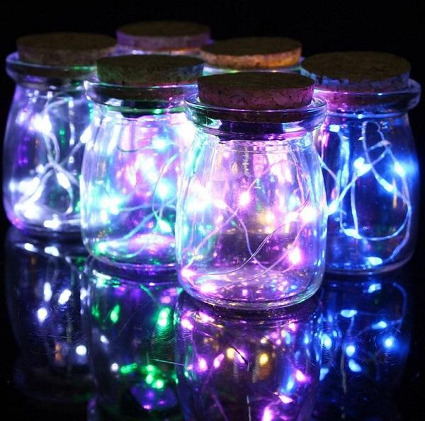 как сделать светильник из новогодней гирлянды