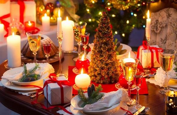 новогодняя ночь в ресторане или дома