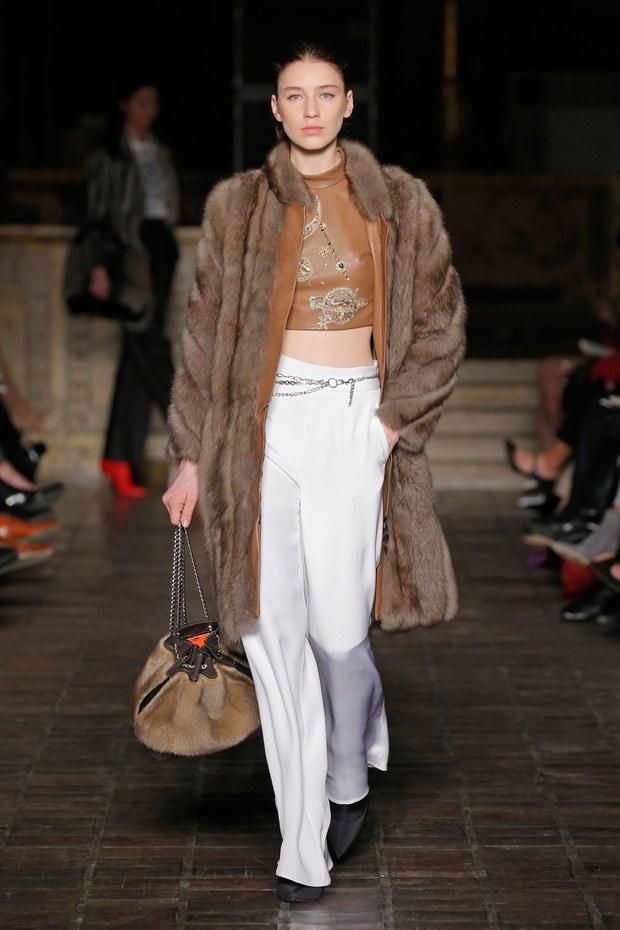 обзор модной коллекции Dennis Basso осень-зима 2018-2019