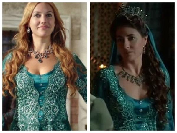 одинаковое платье у хюррем и фатьмы султан