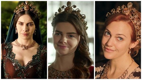платья, наряды, украшения, драгоценности сериала великолепный век - одинаковая корона (31)