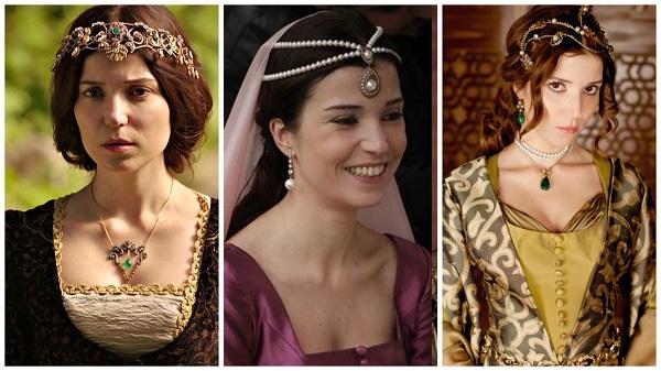 платья, наряды, украшения, драгоценности сериала великолепный век - хатидже(16)