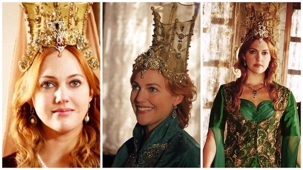 платья, наряды, украшения, драгоценности сериала великолепный век - хюррем в высокой короне(13)