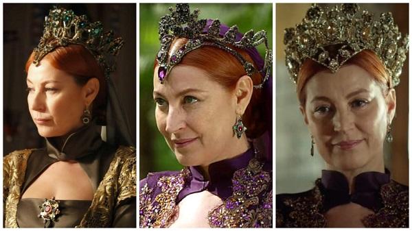 платья, наряды, украшения, драгоценности сериала великолепный век - шикарные короны взрослой хюррем султан(40)