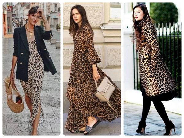 анималистический принт, леопардовый - женская мода весна 2019