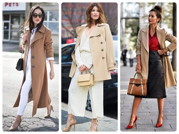 бежевое пальто - женская мода весна 2019