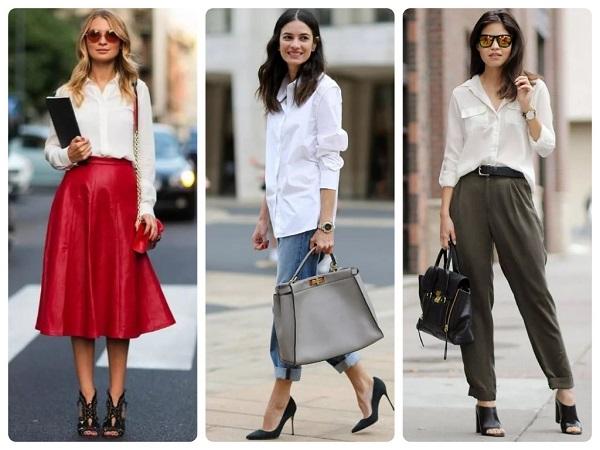 белая блузка - женская мода весна 2019