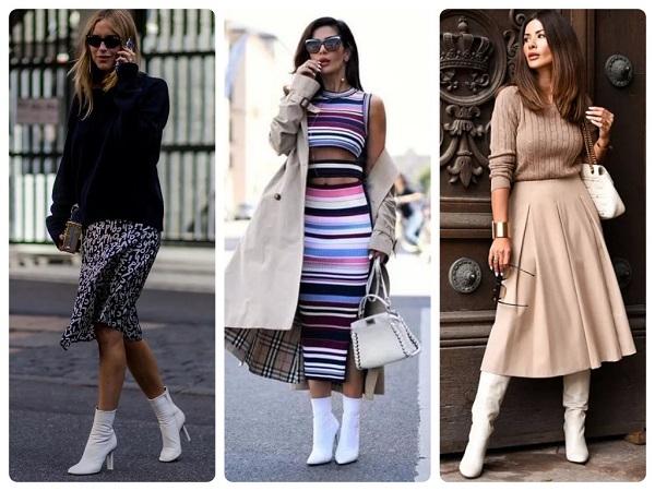 белая обувь - женская мода весна 2019