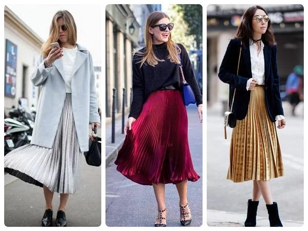 модная плиссированная юбка - женская мода весна 2019