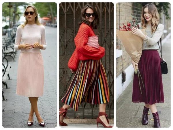 плиссированная юбка - женская мода весна 2019