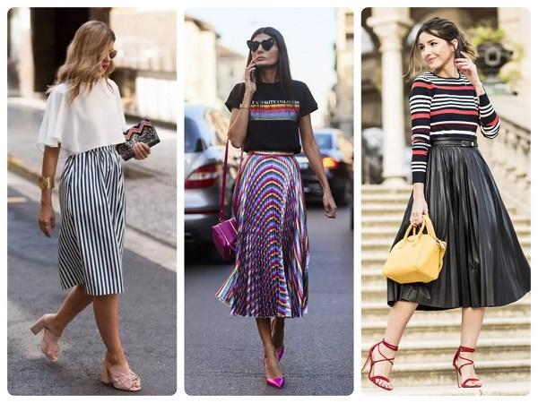 поиссированная юбка на весну и лето - женская мода весна 2019