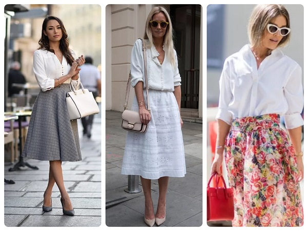 стильная белаярубашка и блузка - женская мода весна 2019