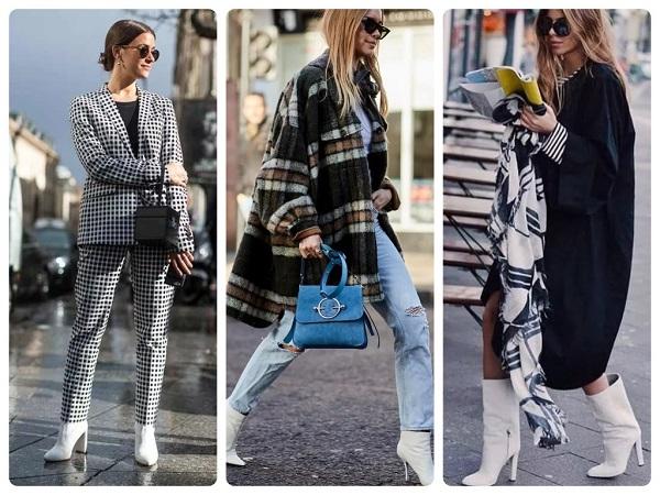 стильная белая обувь, полуботинки - женская мода весна 2019