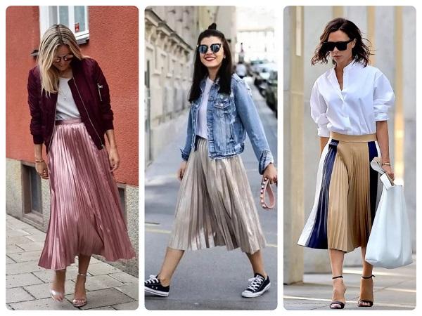 юбка плиссе - женская мода весна 2019