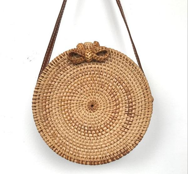 соломенная сумка, женская сумка из соломы на лето
