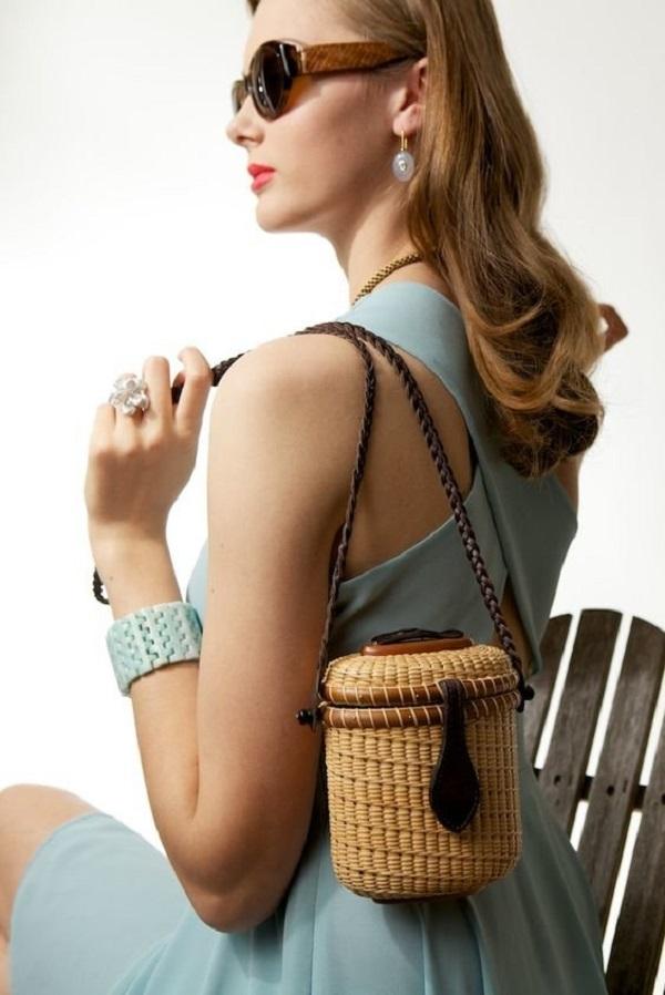 соломенная сумка, с чем носить, фото образов для лета (1)