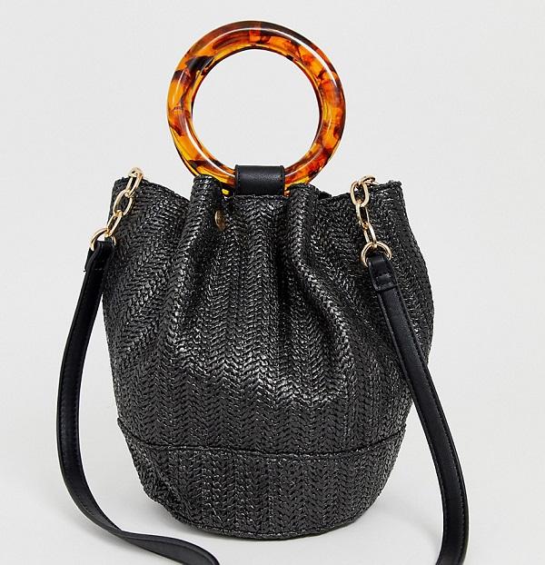 сумка из искусственной соломы