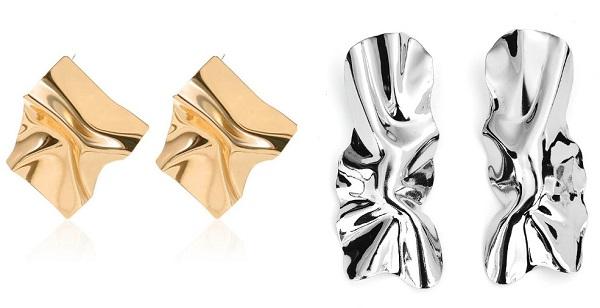 модные серьги лето, металл, жемчуг, ракушки
