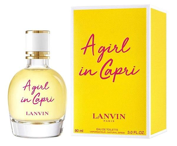 lanvin a girl in a capri, женская туалетная вода, флакон, описание, ноты