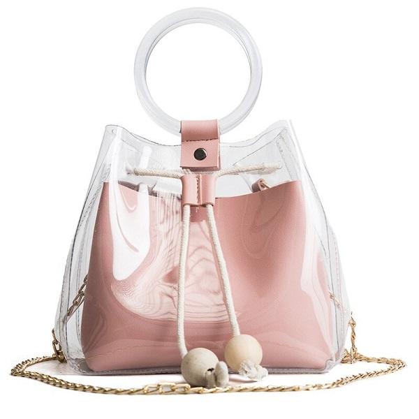 сумка из прозрачного пластика, мода и стиль, лето