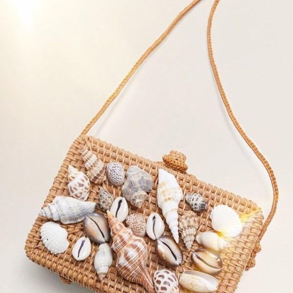 сумка с ракушками на лето ,фото мода и стиль