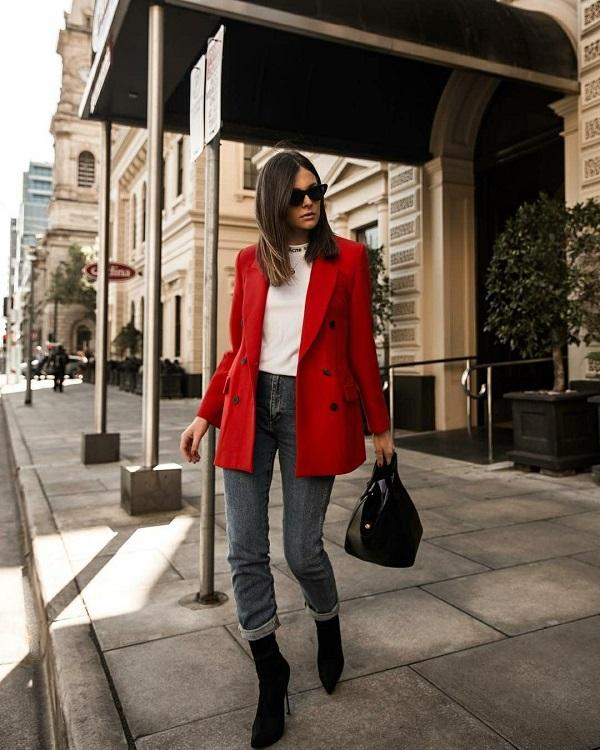 красный женский пиджак на осень 2019
