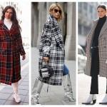 Пальто в клетку — вдохновляющие осенние образы