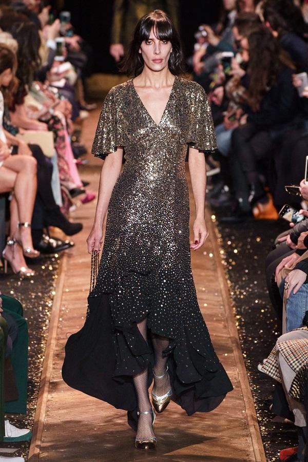 золотистое платье с пайетками - дизайнер майкл корс