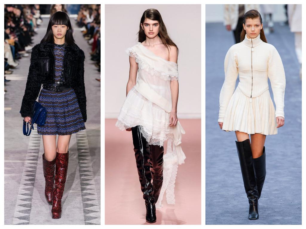 модная женская обувь зима 2020 - ботфорты