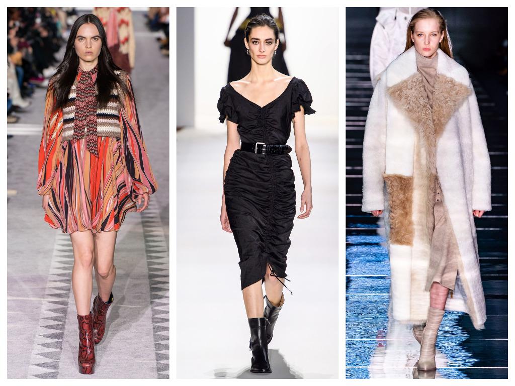 модная женская обувь зима 2020 - полуботинки