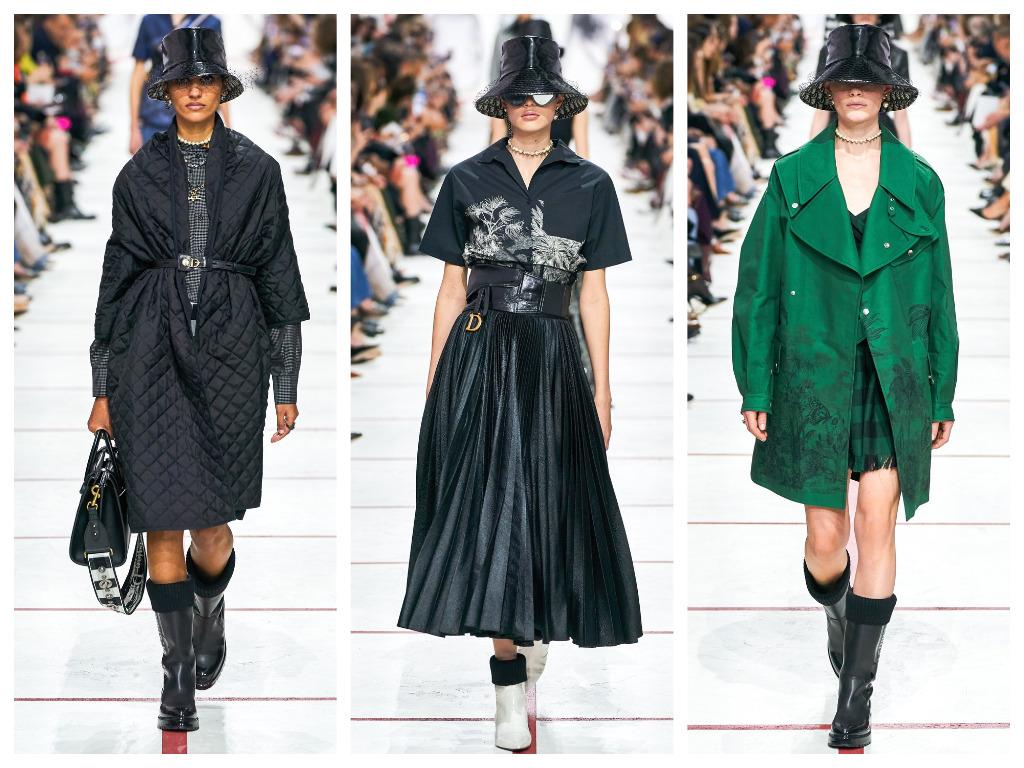 модная женская обувь зима 2020 - саопги с отворотами черного и белого цвета